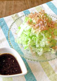 レタサイ*簡単シンプル*生姜醤油サラダ