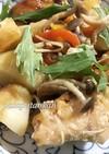 鮭とジャガイモとキノコのバター醤油炒め