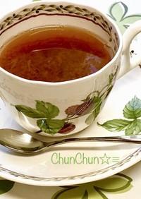5分で☆風邪喉の痛みに♡大根蜂蜜生姜紅茶
