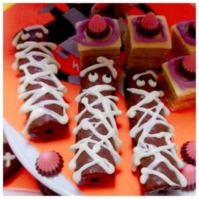 ハロウィンお菓子♡チョコ棒ミイラ