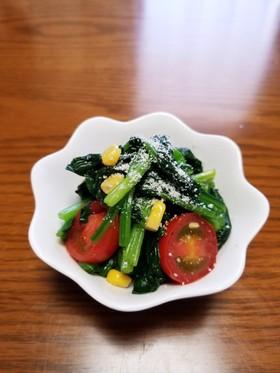 洋風副菜♪ほうれん草・トマト・コーン和え