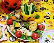 ハロウィンサラダの写真