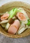 簡単朝ごはん!魚肉ソーセージの野菜炒め
