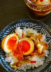 ★醤油ヤンニョム煮卵(간장양념계란)。