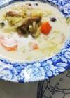 コンソメMILK野菜たっぷりスープ☆*。