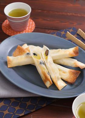 鏡開き☆お餅と栗甘露&黒豆の春巻き