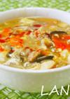 きのこ酸辣湯麵スープ