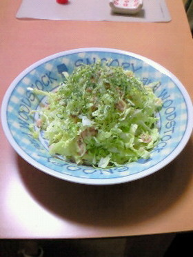 ツナとシャキシャキ白菜サラダ
