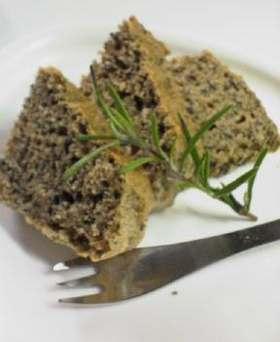 黒胡麻きな粉ケーキ(卵・乳なし)