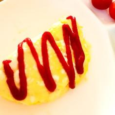 簡単レンジdeチーズオムレツ