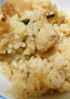 鶏肉と松茸の炊き込みご飯