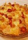 鶏むねのほうれんトマトオーブン焼き