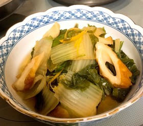 上品薄味✨白菜とちくわの煮物 柚子風味