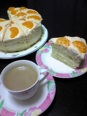 ♡みかんのレアチーズムースケーキ♡