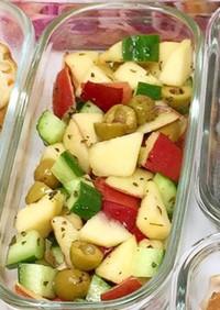 きゅうりとオリーブアップルミントサラダ