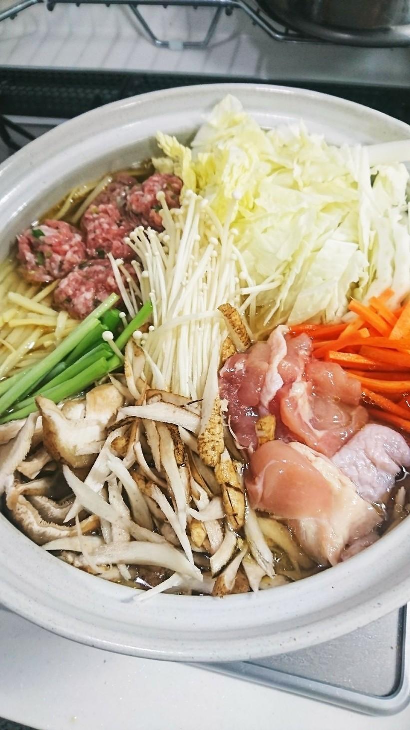 野菜たっぷり鍋~野菜の食感がおいしいよ