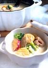 さつまいもニョッキの豆乳味噌スープ