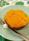 お手軽に♫柿とチョコレートのタルト