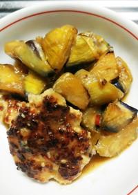 鶏団子と茄子の味噌煮