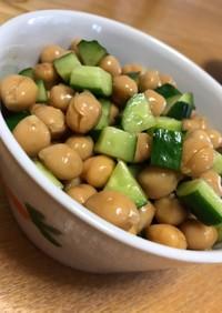 ひよこ豆の付け合わせ☆納豆のタレ活用
