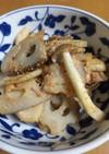レンコンとキノコの明太炒め