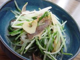 ☆水菜と豚のガーリックソテー☆