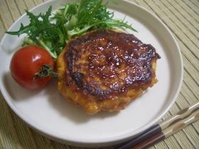豆腐と魚のハンバーグ(甘辛だれ)