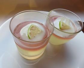 冬瓜と島レモンのゼリー