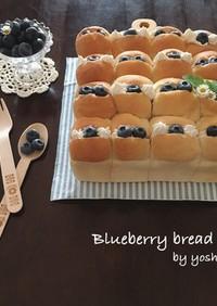 HBでブルーベリーのちぎりパン♪