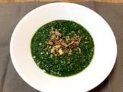 レンジフープロでほうれん草と大根のスープの写真