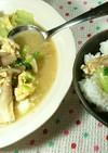小松菜ときのこの汁だく卵とじ