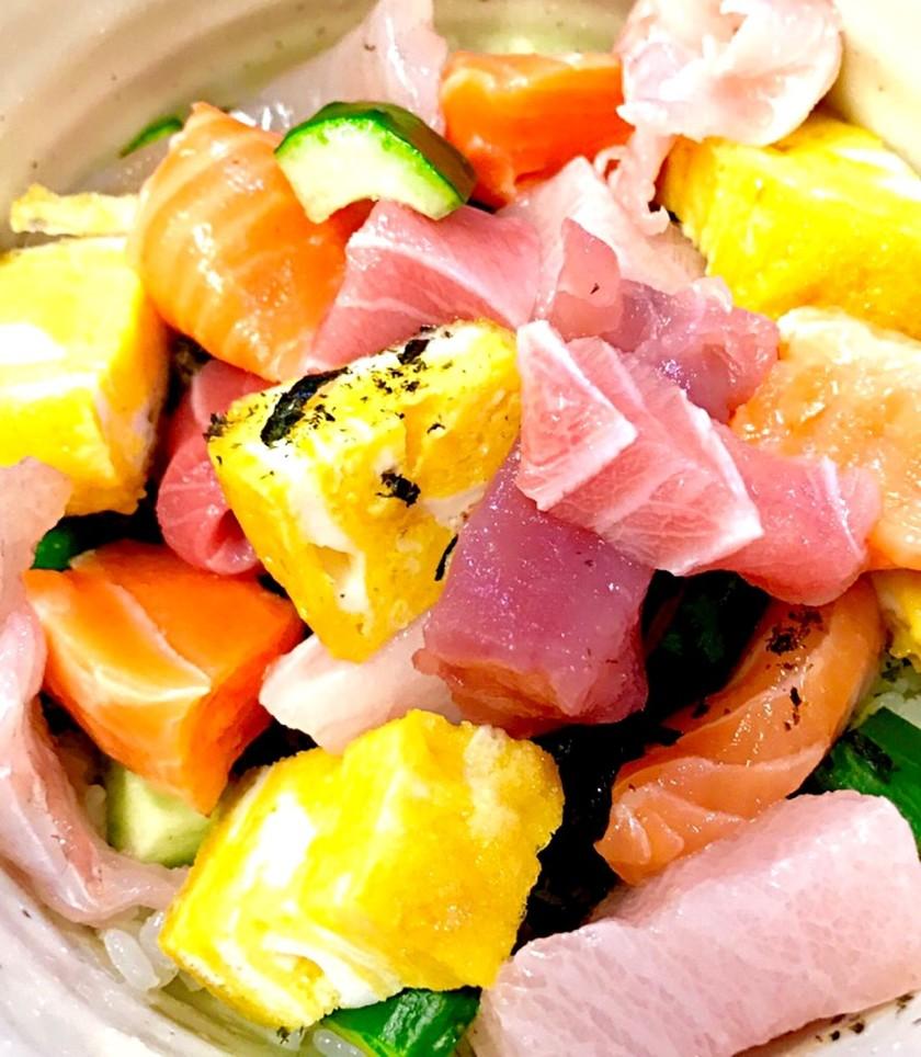 コロコロ刺身の海鮮丼 〜贅沢も節約も〜