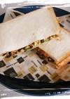 ふじっこ煮&ふんわり卵のサンドイッチ