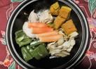 鶏もも肉と野菜の陶板焼き