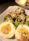 ブロッコリーと卵サラダ
