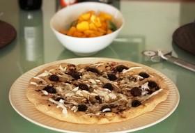スペルト小麦粉と米粉のフォカッチャピザ