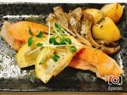 鮭のムニエル簡単レモンソース添えの写真