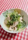 レンジで簡単☆ささみと豆苗やみつきサラダ