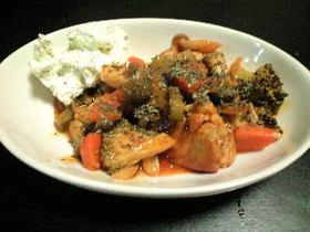 鶏肉と野菜の簡単♪トマトジュース煮