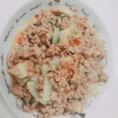 フォローさん伝授☆白菜と挽肉の辛炒め