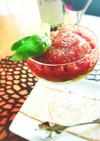 とろりん美味♡柿とマグロの洋風ユッケ
