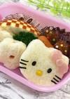 キティのサンドイッチ☆幼稚園キャラ弁に