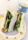 ふじっ子煮!昆布と卵のサンドイッチ