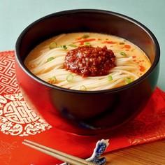 ピリ辛豆乳担々うーめん(白石温麺)