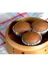 米粉とさらしあんパウダーの中華風蒸し菓子