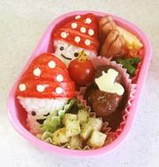 幼稚園 お弁当 秋 きのこ(おにぎり)の写真