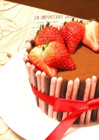 ポッキーの日に♪ティラミスポッキーケーキ