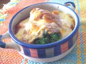 ブロッコリーのチーズ&カレーグラタン