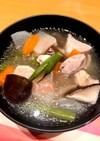 大根がしみしみで美味しい鶏モモの治部煮?