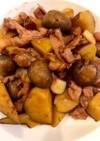さつま芋と豚バラの甘辛ガーリック炒め